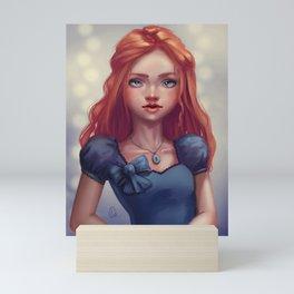 Portrait of a redhead Mini Art Print