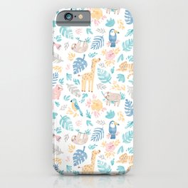 Sleepy Jungle iPhone Case