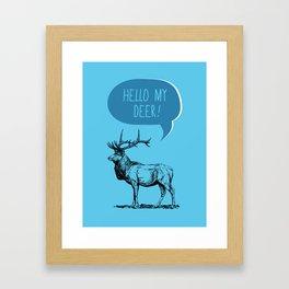 Deer Pun Framed Art Print