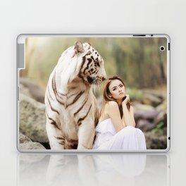 White Tiger from Bengal   Tigre blanc du Bengale Laptop & iPad Skin