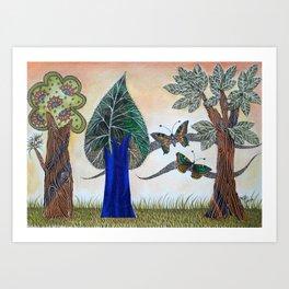Butterflies in love II Art Print