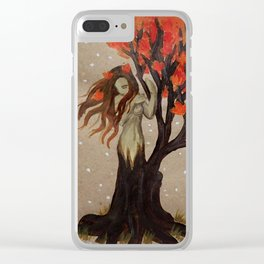 Fall Dryad Clear iPhone Case