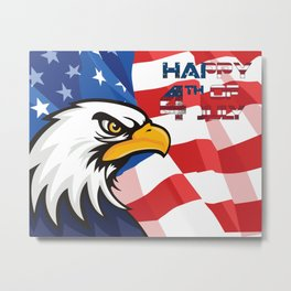 american eagle happy 4th of july - independence day Metal Print