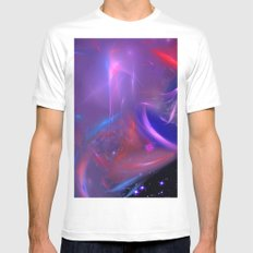 Cosmic Twister Mens Fitted Tee MEDIUM White