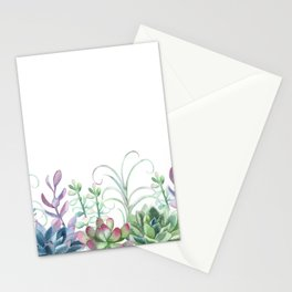 Succulents in The Garden Stationery Cards