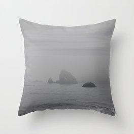 The Grey Rocks Throw Pillow