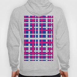 Blue & Pink Interlocking Stripes Hoody