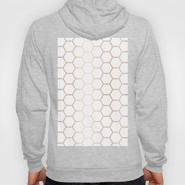 Geometric Honeycomb Pattern - Rose Gold #372 Hoody