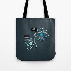 Negative Atom Tote Bag