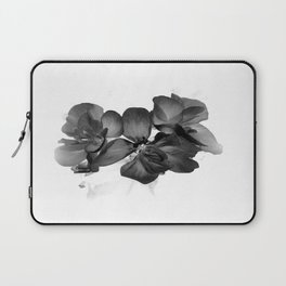 Black Geranium in White Laptop Sleeve