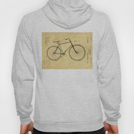 Bicyole Support Patent Drawing From 1894 Hoody