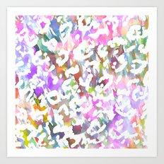 Pastel Leopard Art Print