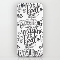 imagine iPhone & iPod Skins featuring IMAGINE by Matthew Taylor Wilson