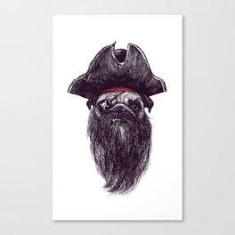 Capt. Blackbone the Pugrate Canvas Print