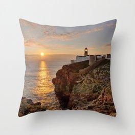 Cabo de Sao Vicente, sunset Throw Pillow
