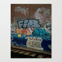grafitti Canvas Prints featuring Grafitti Art by Lisa De Rosa-Essence of Life Photography