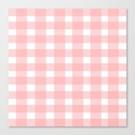 Pink Gingham Design Canvas Print
