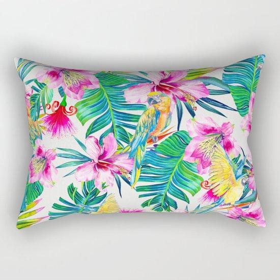 Parrot Beach Rectangular Pillow