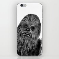 chewbacca iPhone & iPod Skins featuring Chewbacca by axemangraphics