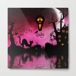 Spooky, funny halloween design Metal Print
