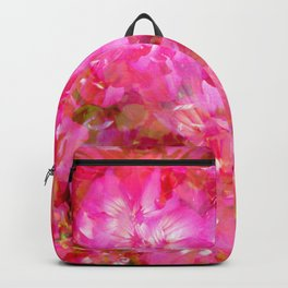 Bright And Cheery Geranium Abstract Backpack