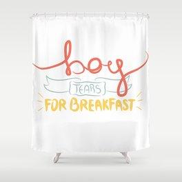 Boy Tears For Breakfast Shower Curtain