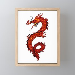Mythical Red Dragon Framed Mini Art Print