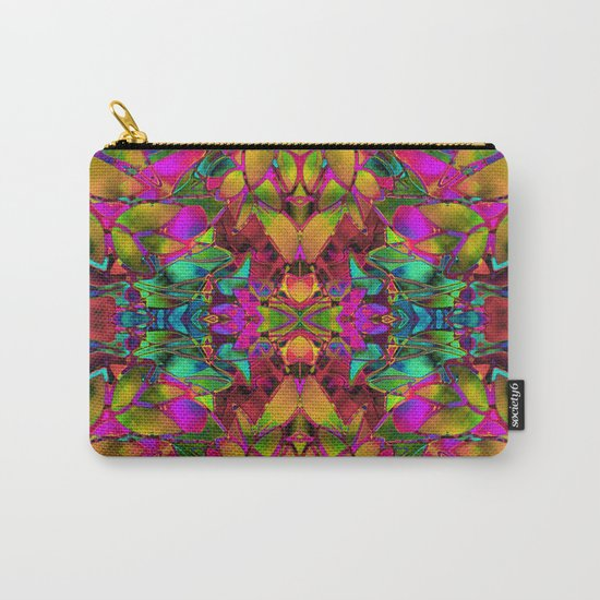 Fractal Floral Abstract G285 Carry-All Pouch