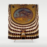 theatre Shower Curtains featuring Royal Theatre of Saint Charles by EclipseLio