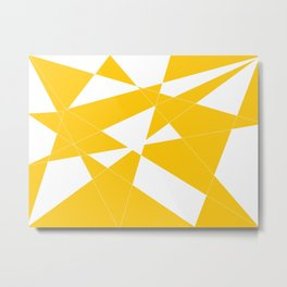 yellow diamond Metal Print