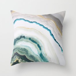 Green Agate #1 Throw Pillow