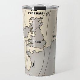 British Isles vintage weather map poster Travel Mug
