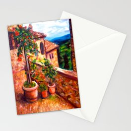 Little Tuscan Town Stationery Cards