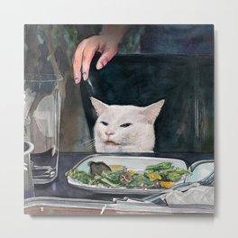 Woman Yelling at Cat Meme-2 Metal Print