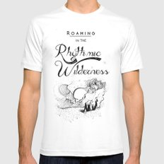 Roaming in the Rhythmic Wilderness LARGE Mens Fitted Tee White