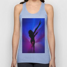0887-BR Blue Red Passion Series Abstract Figure Work by Chris Maher Unisex Tank Top