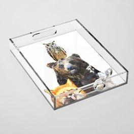 Woodland Animal Friends Acrylic Tray