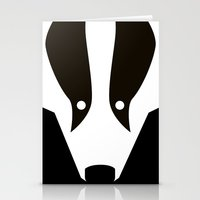 badger Stationery Cards featuring Badger by Christian Bailey