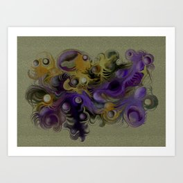 Coloured fantasy Art Print