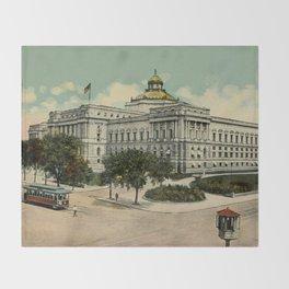 Library of Congress Washington DC 1900s Throw Blanket