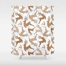 Reindeer! Shower Curtain
