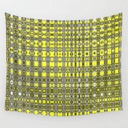 Yellow fractal pattern. Wall Tapestry