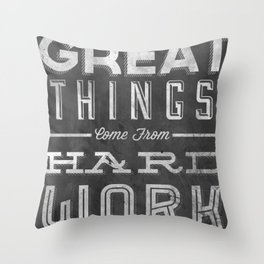 Great Things in Chalk Throw Pillow