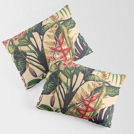 Vintage Tropical Flora (green) Pillow Sham