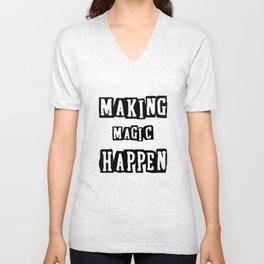 making magic happen chemist t-shirts Unisex V-Neck