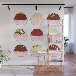 Colorful chocolate truffles Wall Mural