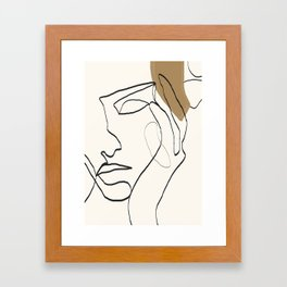 Abstract Face Framed Art Print