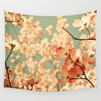 bianca green Wall Tapestries featuring Pink by Olivia Joy StClaire