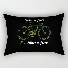 Bike Fun E Bike Fun E Bike Bike Rectangular Pillow