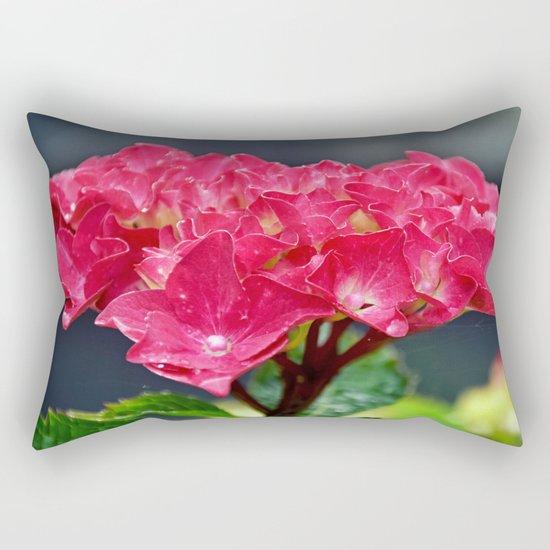 Pink Hydrangea Rectangular Pillow